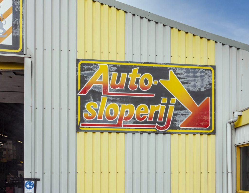 autosloperijloods logo pand vijfhuizen